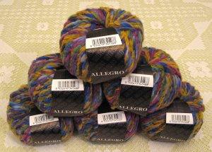 "$81 Lot--6 Skeins Filatura Di Crosa Allegro ""9 Purple Multi"" Yarn + Free Gift!"