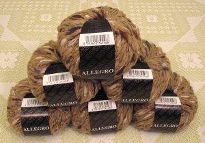 """$81 Lot--6 Skeins Filatura Di Crosa Allegro """"13 Tan Multi"""" Yarn + Free Gift!"""
