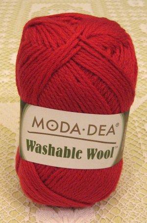 """Moda Dea Washable Wool """"True Red"""" Yarn ~ 1 Skein ~ $5"""