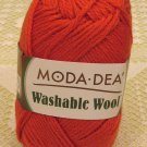 "Moda Dea Washable Wool ""Tangerine"" Yarn ~ 1 Skein ~ $5"