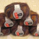 "$66 Lot--6 Skeins Muench Furrari ""4401"" Mohair Yarn + Free Gift!"