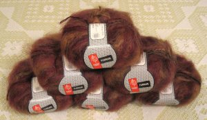 "$66 Lot--6 Skeins Muench Furrari ""4406"" Mohair Yarn + Free Gift!"