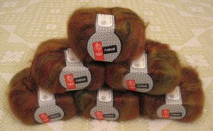 "$66 Lot--6 Skeins Muench Furrari ""4407"" Mohair Yarn + Free Gift!"
