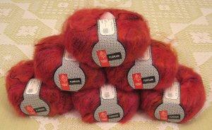 "$66 Lot--6 Skeins Muench Furrari ""4408"" Mohair Yarn + Free Gift!"