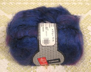 "Muench Furrari ""4404"" Mohair Self-Striping Yarn ~ 1 Skein ~ $7"
