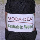"Moda Dea Washable Wool ""Black"" Yarn ~ 1 Skein ~ $5"