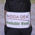 "Moda Dea Washable Wool ""Black"" Yarn ~ 1 Skein ~ $5"