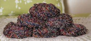 "$72 Lot--6 Skeins Ironstone Desert Flower ""Bold Rainbow"" Yarn + Free Gift!"