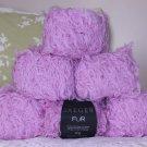 "$66 Lot--6 Skeins Jaeger Fur ""Pink Cat"" Yarn + Free Gift!"