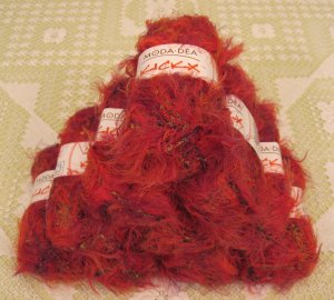 "$110 Lot--10 Skeins Moda Dea KickX ""Fever"" Yarn + Free Gift!"