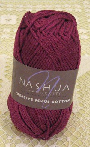 "Nashua Creative Focus Cotton ""Dark Fuchsia"" Yarn ~ 1 Skein ~ $3"