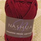 "Nashua Creative Focus Cotton ""Dark Red"" Yarn ~ 1 Skein ~ $3.50"