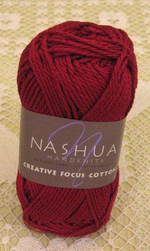 """Nashua Creative Focus Cotton """"Dark Red"""" Yarn ~ 1 Skein ~ $3"""