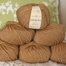 "$54 Lot--6 Skeins Rowan Little Big Wool ""Amber"" Yarn + Free Gift!"