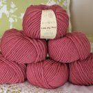 "$54 Lot--6 Skeins Rowan Little Big Wool ""Garnet"" Yarn + Free Gift!"