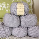 "$54 Lot--6 Skeins Rowan Little Big Wool ""Pearl"" Yarn + Free Gift!"