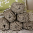 "$78 Lot--6 Skeins Rowan Purelife Organic Wool ""Ivy"" Yarn + Free Gift!"