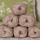 "$72 Lot--6 Skeins Rowan Silk Cotton ""Fudge"" Yarn + Free Gift!"