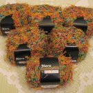 """$69 Lot--6 Skeins Stacy Charles Fiero """"12"""" Yarn + Free Gift!"""