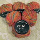 "$42 Lot--6 Skeins Tahki Chat Print ""21"" Yarn + Free Gift!"