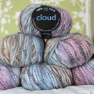 "$48 Lot--6 Skeins Tahki Cloud ""1 Rainbow"" Yarn + Free Gift!"