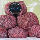"$48 Lot--6 Skeins Tahki Cloud ""4 Reds"" Yarn + Free Gift!"