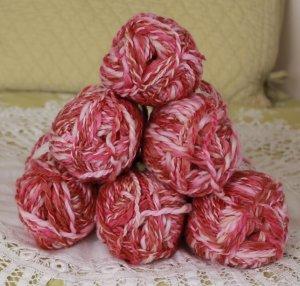 "$42 Lot--6 Skeins Moda Dea Cartwheel ""Neopolitan"" Yarn + Free Gift!"