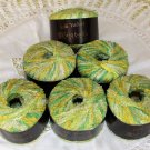"$78 Lot--6 Skeins Karabella Silk Velvet ""40 Greens"" Yarn + Free Gift!"