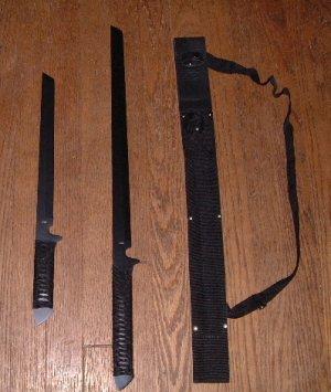 Set of 2 Ninja Swords with Shoulder Sheath