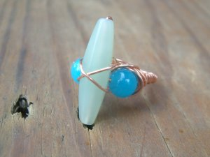 Jade and Copper ring