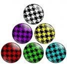Houndstooth Pattern 1.25 inch Pinback Button Badge Set 1