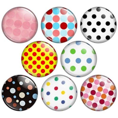 Polka Dot Pattern 1.25 inch Pinback Button Badge Set 1