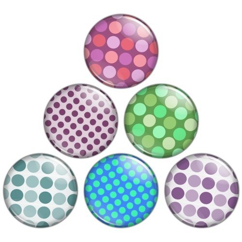Polka Dot Pattern 1.25 inch Pinback Button Badge Set 3