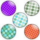 Polka Dot Pattern 1.25 inch Pinback Button Badge Set 4