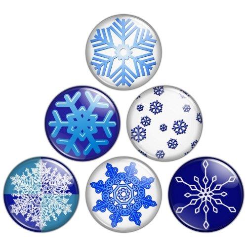 Snowflake 1.25 inch Pinback Button Badge Set