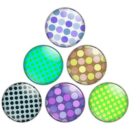 Polka Dot Pattern 1.25 inch Pinback Button Badge Set 2