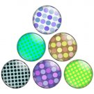 Polka Dot Pattern 1.25 inch Pinback Button Badge Set 2