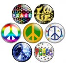 Peace Sign 1.25 inch Pinback Button Badge Set