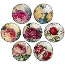 Victorian Rose 1.25 inch Pinback Button Badge Set