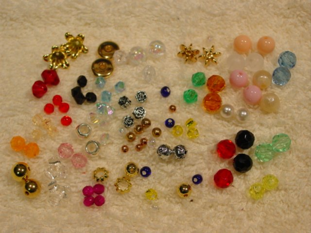 100 Beads for Thread Slide Threader Earrings #47