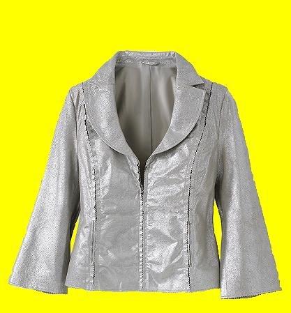Metallic Suede Jacket