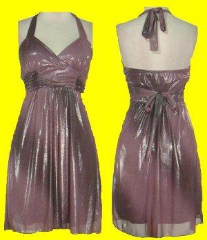 Metallic Halter Dress