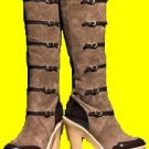 Faux Suede Buckle Boot