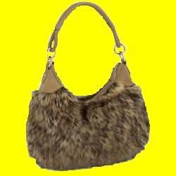 Fur (Faux) Hobo Bag