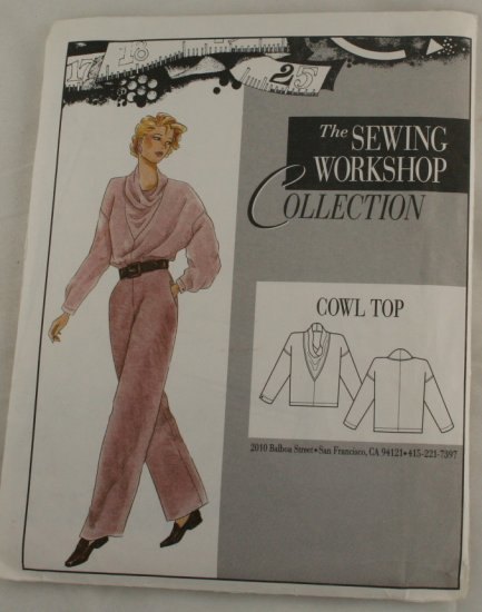 "Vintage""Cowl Top"" Sewing WorkshopPATTERN VINTAGE S 8-10"