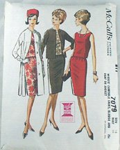 Dress Coat Pattern-McCalls 7079-Jackie Chic Sz 18