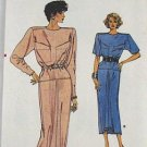 VOGUE 9739-1986 Misses Dress Pattern Vintage  PATTERN SZ6-8-10