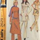 1970 Vintage MOD Tunic & Flare Pant Pattern-McCalls2629 Sz18