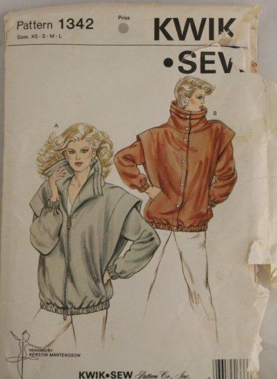 """Vintage """"Jacket"""" Pattern Kwik Sew PATTERN 1984 Sz XS-L"""