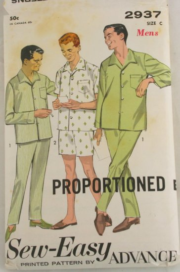 Advance Mens Pajamas 2937  Sz 42-44